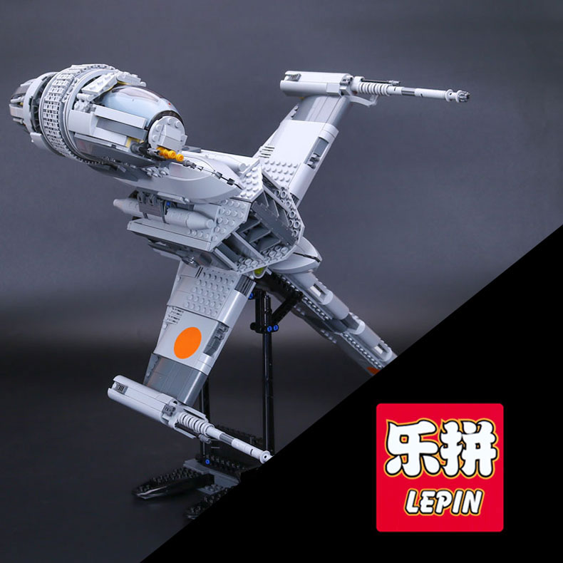 Lepin 05045 1487pcs Genuine New Star Series The B toy wing fighter Educational Building Blocks Bricks Funny War Toys 10227 gift new 679pcs lepin 05054 genuine star war series the rebel u wing fighter set building blocks bricks toys 75155