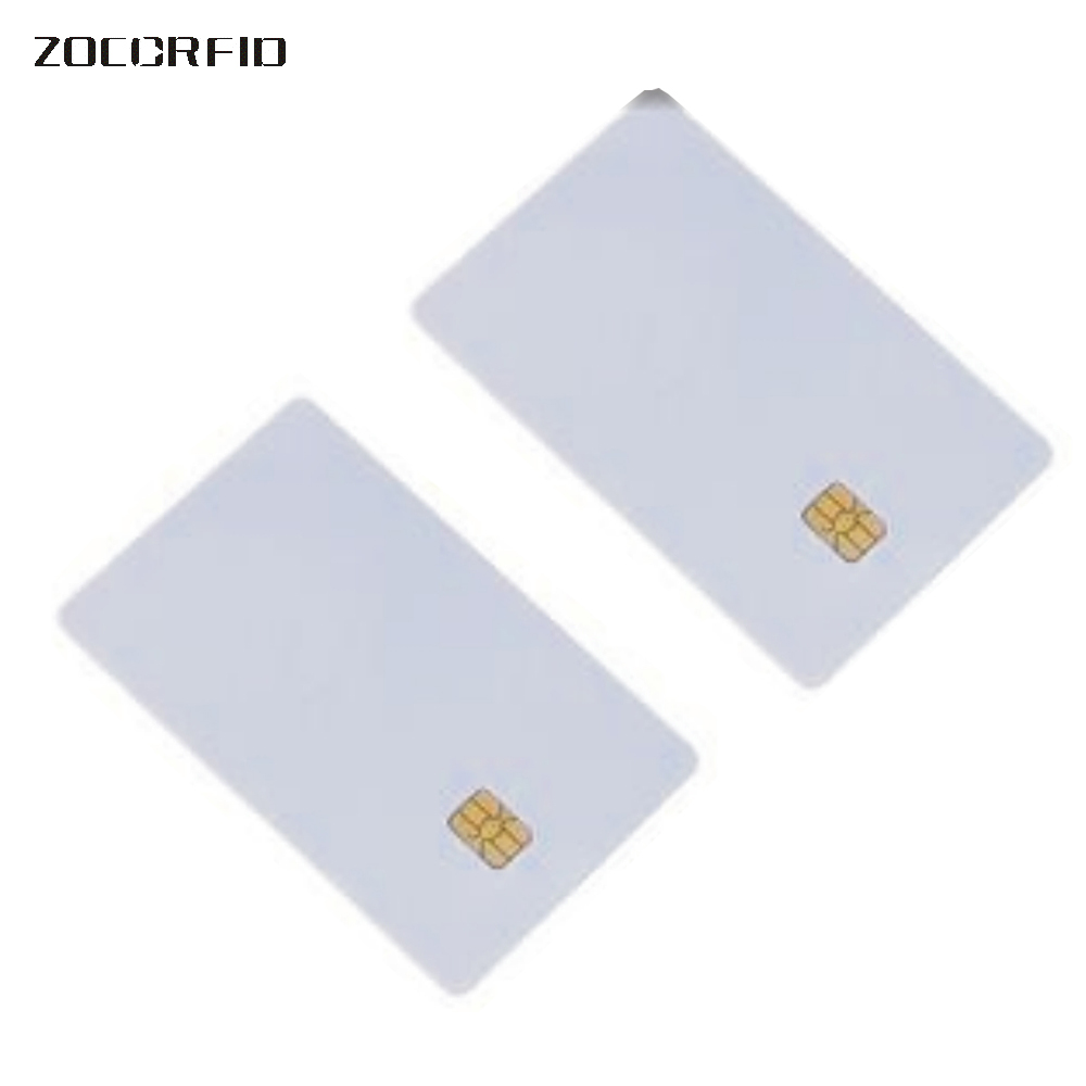 Clearance Sale100 pcs Blank PVC SLE-4442 IC card/ISO7816-3 SiM Contact card / SLE4442 smart card