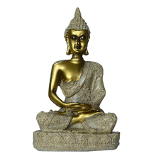 Creative Small Sitting Buddha Model Ornaments Modern Resin Crafts Deskstop Home Decoration Accessories Birthday Gifts