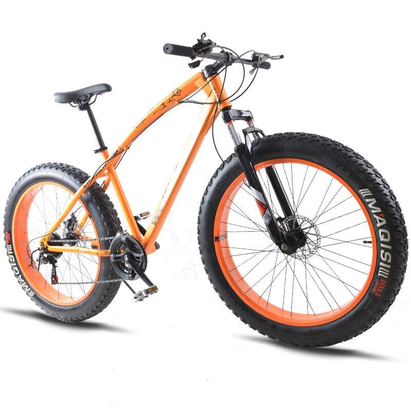 7/21/24/27 velocidad bicicleta de montaña * 26*4,0 grasa de neumáticos de bicicletas amortiguadores bicicleta gratis entrega de moto de nieve