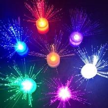Gypsophila светодиодная Электронная свеча Ночная Красочные Изменение цвета оптического волокна профессии Бездымная Свеча лампа магазин при фабрике