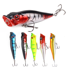 1pcs 90mm 12.5g Fishing Lure Floating Topwater Popper Lifelike Hard Bait for Bass Pike 3D Eyes Wobbler Carp Peaca Tackle