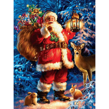 Hot Sale Happy Christmas Gift DIY Diamond Painting Cross Stitch Round Diamond Embroidery Rhristmas Christmas Decoration for Home