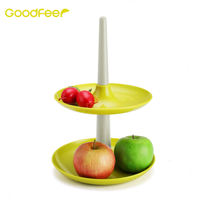 Goodfeer Cake Stand Server Space-saving Cupcake Stand Fruit & Dessert Tower Platter for Party Birthday Wedding Kitchen Tool