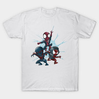 2017 Latest Summer Film 90 S Spidey Trinity Print T Shirt Short Sleeve O Neck Spider