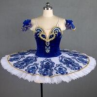 Профессиональная балетная пачка S синий, классическая балетная пачка платье для девочек Королевский синий балетная юбка балетные костюмы п