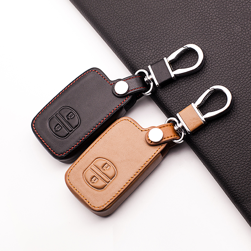 Fob Key Leather Car Key Holder Case Cover for TOYOTA Camry Highlander Crown Prado Land Cruiser Hilux Prius car key cover shell наклейки digiface toyota camry highlander prius hilux rav4