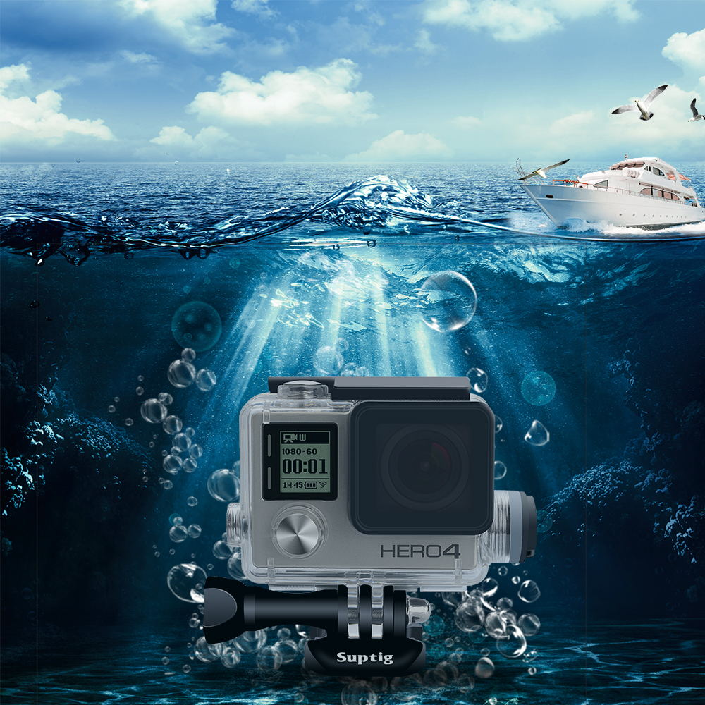 Image 2 - Suptig Action Camera Accessories Motocycle Chargering Waterproof Case for Gopro Hero 4 / 3+ Charger shell Housing + USB Cable-in Sports Camcorder Cases from Consumer Electronics