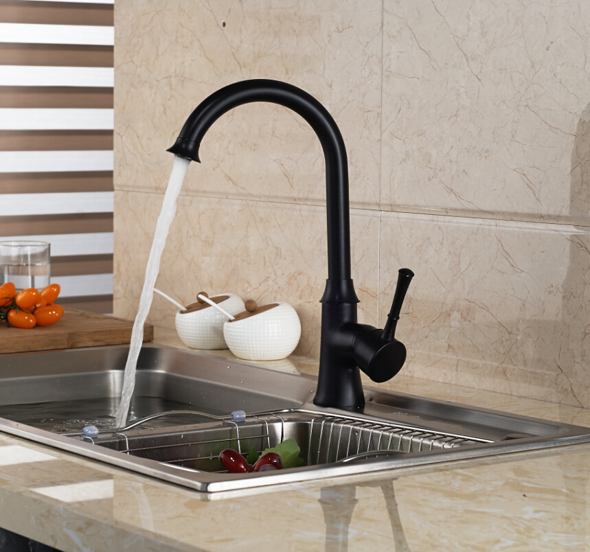 ФОТО Good Quality One Hole Kitchen Faucet Sinle Handle Brass Rotation Kitchen Mixer Taps Bathroom Vessel Sink Faucets