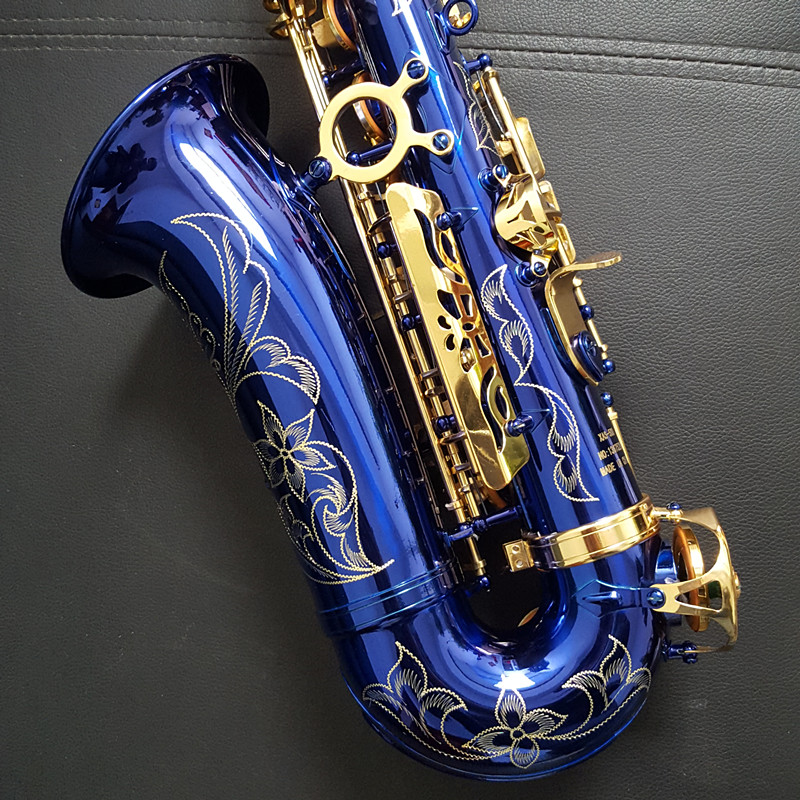 High Quality Alto Saxophone E Flat XAS-500 Blue Saxophone And Brass Fittings Shipping