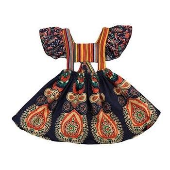 bfae07f12 Los niños de las muchachas del bebé princesa vestido de fiesta sin espalda  concurso Floral de Boho ...