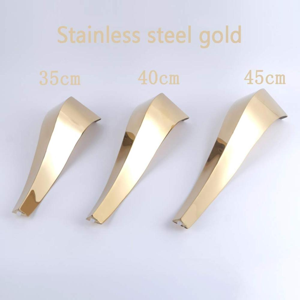 2pcs stainless steel Furniture Legs Snake-Shaped Table Cabinets feet Sofa Bed TV Cabinet feet Shiny Gold/Silver Furniture feet