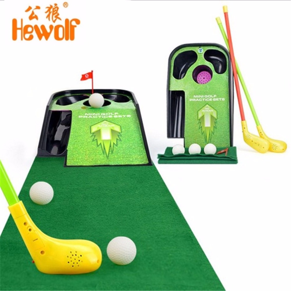 Mini Golf Club Set Golf Ball Sport ABS Golf Club for Children Golf Table With Flag Kids Sport Game Toy Nice Gift