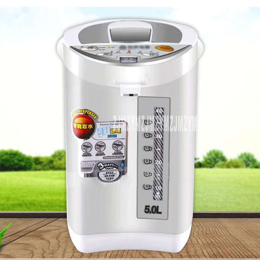 RS-7556C electric water bottle 304 food grade stainless steel kettle 5L constant temperature electric kettle 220V rs 7556c electric water bottle 304 food grade stainless steel kettle 5l constant temperature electric kettle 220v