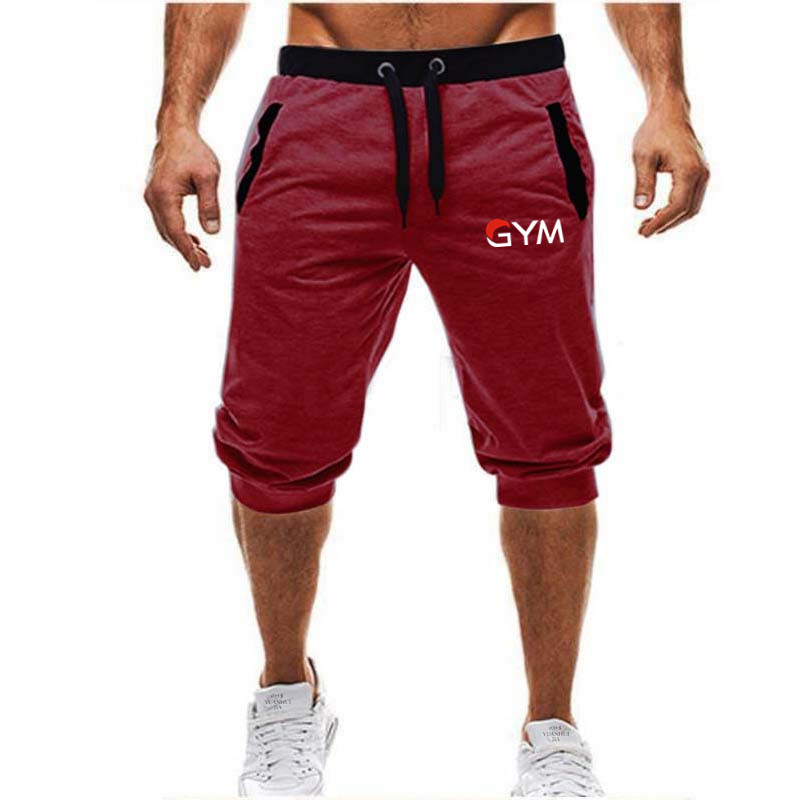 Conventional2019new Men Sporting Beaching Shorts Trousers Cotton Bodybuilding Sweatpants Fitness Short Jogger Casual Gyms Men S