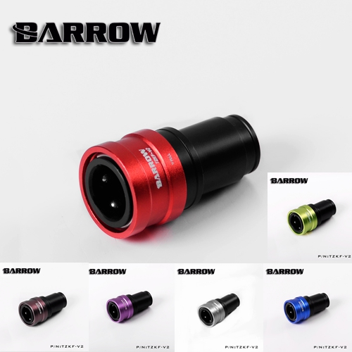 Barrow TZKF-V2 Black Silver Water Cooling Fittings Sealing Quick Coupling Female Connector