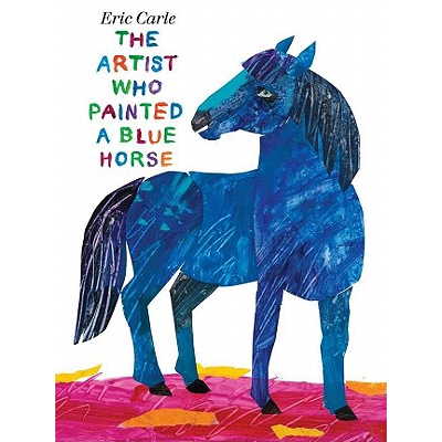 L'artiste qui A peint un cheval bleu par Eric Carle apprendre l'anglais Stoyr livres de lecture pour enfants livre de dessin