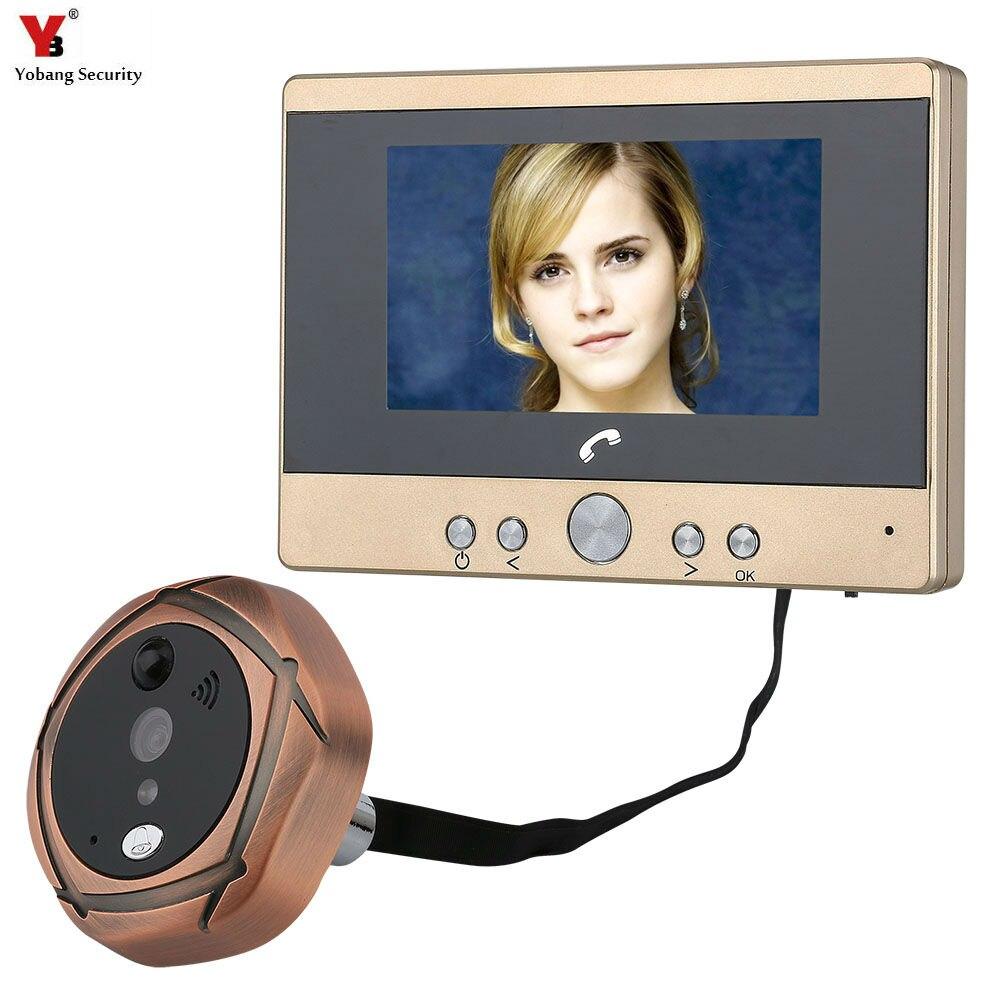 Yobang Sécurité 4.3 TFT Écran Numérique Interphone Judas Porte Camera Viewer PIR Détection de Mouvement Sonnette