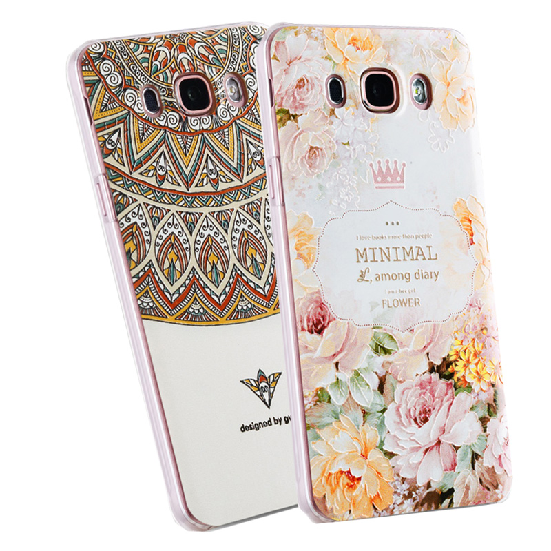 3D Relief Frosted PC Hard Back Cover Case For Samsung Galaxy J7 2016 J710 J7108 J710F Phone Bags Colorful Coque New Arrive