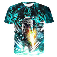 anime Dragon Ball Z 3D Compression T-shirt Vegeta Super Saiyan Goku Gold Eye Men's High elasticity Slim shirt Fitness Tee tops(China)