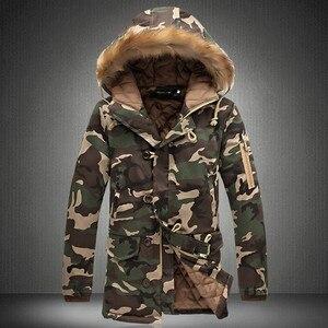 Image 2 - Rivestimento di inverno Degli Uomini 2020 Vendita Calda Camouflage Esercito di Spessore Cappotto Caldo Parka degli uomini Cappotto Moda Maschile Con Cappuccio Parka Uomini m 4XL Più Il Formato