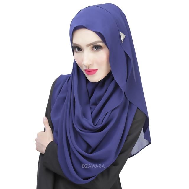 2015 Nuevas Mujeres Llegadas Musulmán Hijab Islámico Capó Moda Llana Sólida Cubierta de La Cabeza Bufanda Musulmán Hijab Islámico Hijab Tapa Ocasional