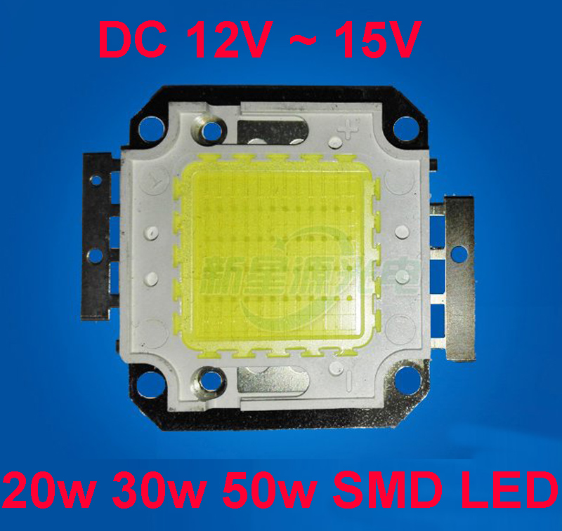 20w Smd Led 12v: 1pcs 20W 30w 50w Watt Cool White 6000K