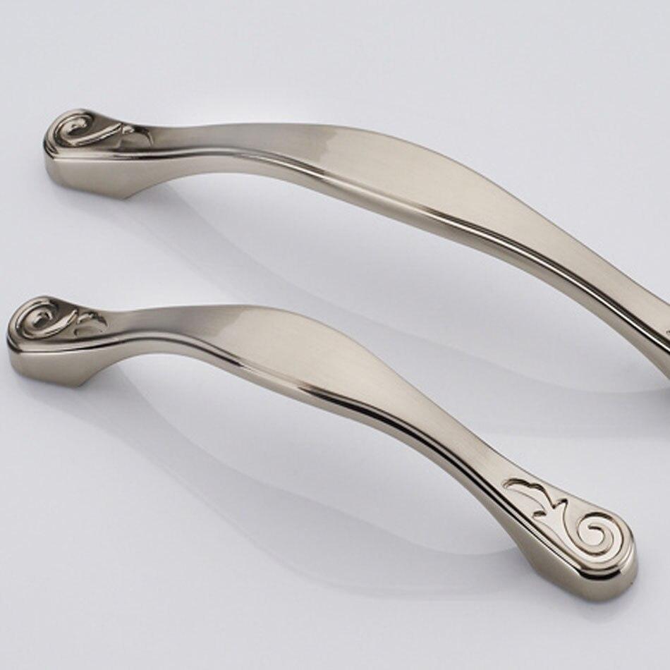 64mm silver antique brass porcelain drawer handles zinc alloy cabinet closet door knobs kitchen dresse pulls