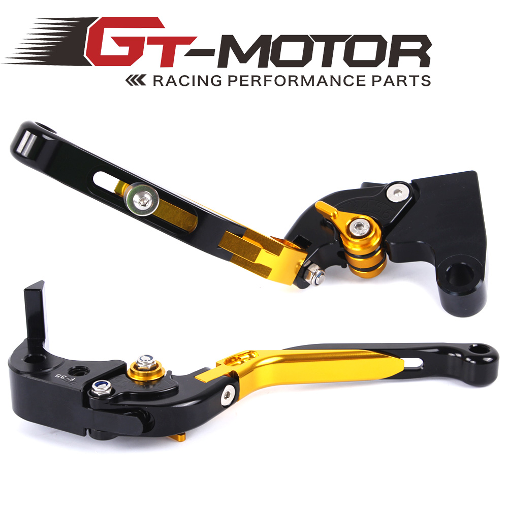 GT Motor - F-35 T-333 Adjustable CNC 3D Extendable Folding Brake Clutch Levers For TRIUMPH DAYTONA 675 SPEED TRIPLE 675 STREET gt motor f 16 dc 80 adjustable cnc 3d extendable folding brake clutch levers for moto guzzi breva 1100 norge 1200 gt8v