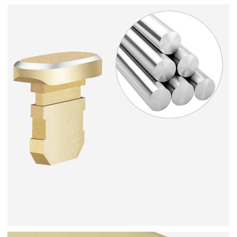 Top selling Metal Charging Port Dust Plug for iPhone 8 7 6 6S Plus Mini Dust Plug For iPhone 5 5s SE Phone Accessories