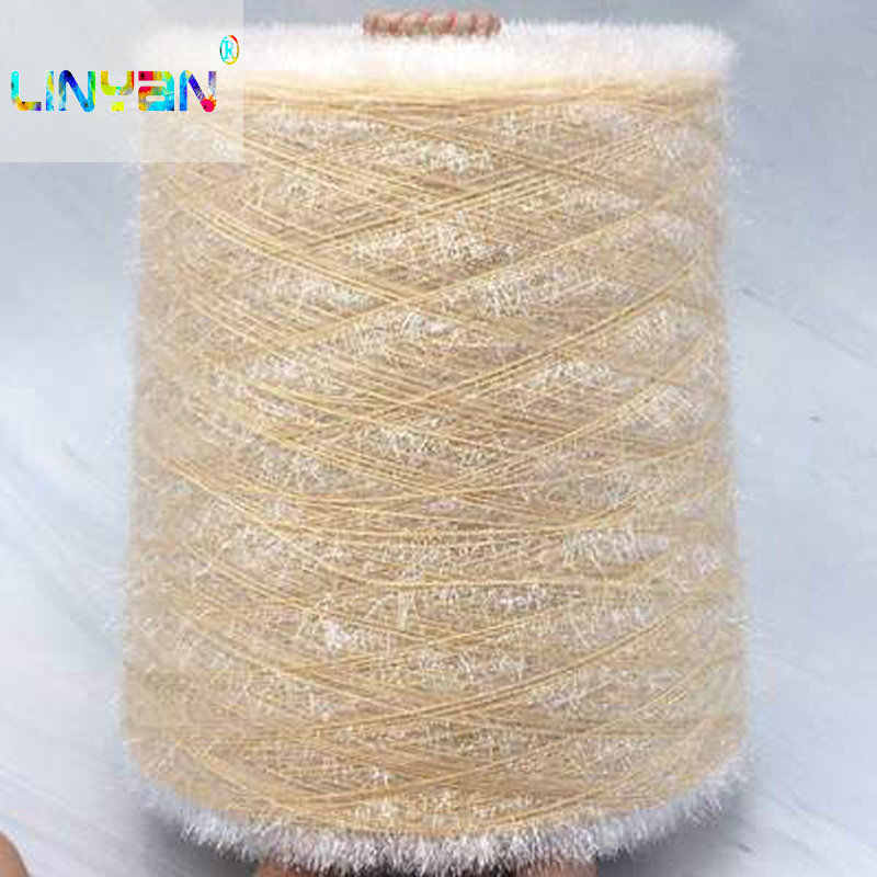 250g*1piece yarn for knitting fibre hand knitting Crochet knitting wholesale weave knitting cord Special fancy Bright silk t6