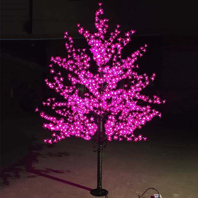 Purple Christmas Tree Lights.Us 181 17 39 Off Outdoor Waterproof Artificial 1 5m Led Cherry Blossom Tree Lamp 480leds Christmas Tree Light For Home Festival Decoration In