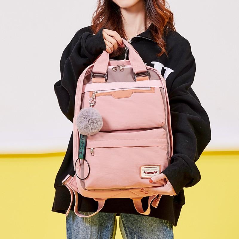 2020 yeni su geçirmez naylon çocuk sırt çantası kız ortaokul öğrencileri için seyahat omuz sırt çantaları çocuk okul çantaları kadın çantası