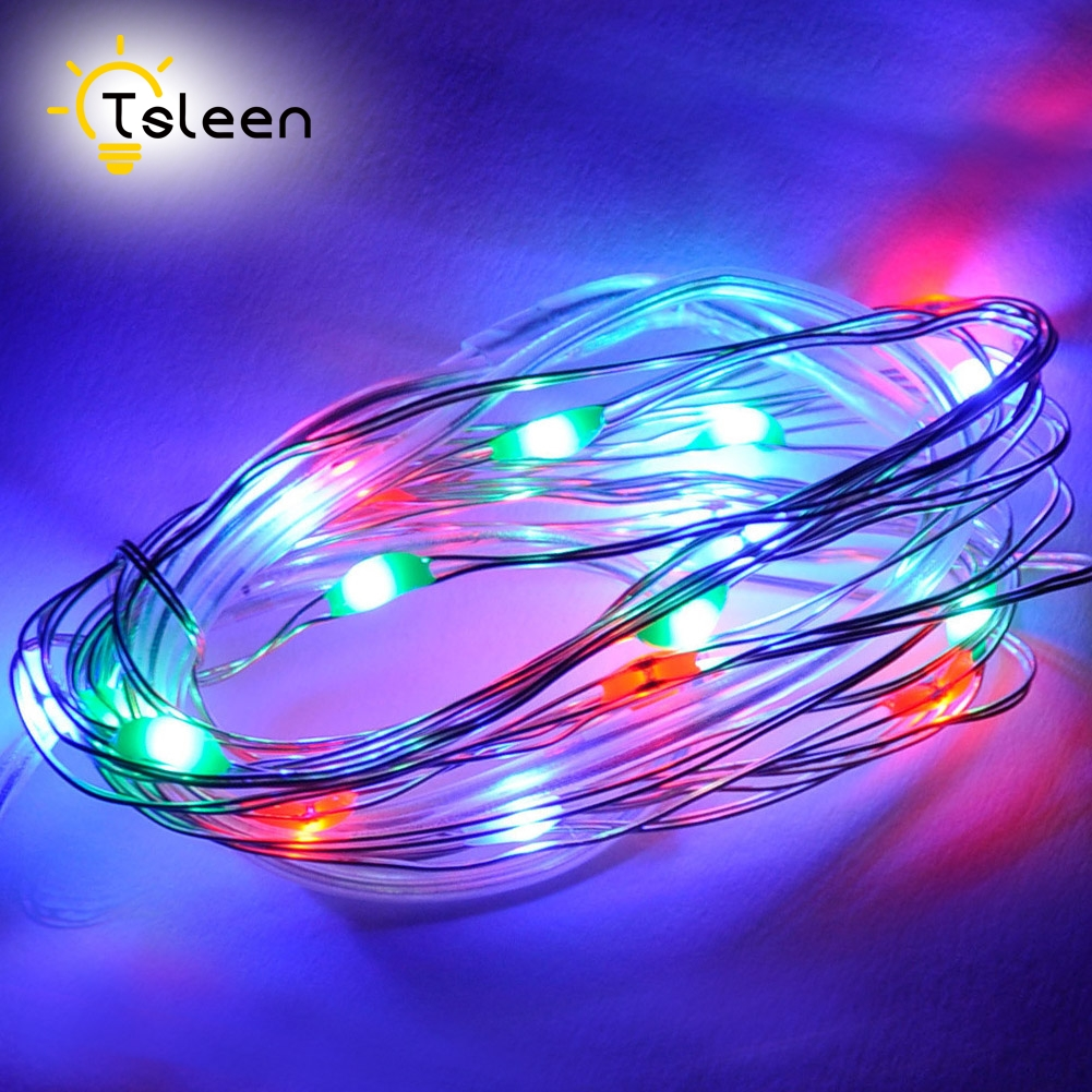 TSLEEN Hot Sale 5M 10M 100 LED String Light DC 12V Led Strip Xmas Garland Home Wedding Decoration Christmas Flasher Fairy Lights