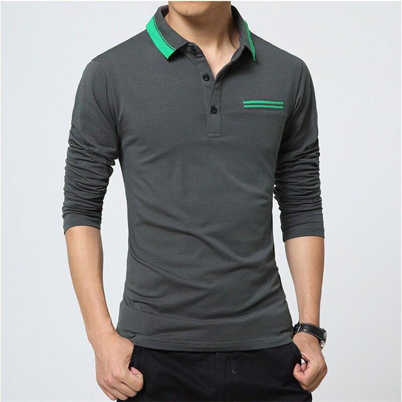 Icpans Polo Shirt Men Long Sleeve Breathable Cotton Polyester Casual Men Polo Shirt 2018 Plus Size 3XL 4XL 5XL