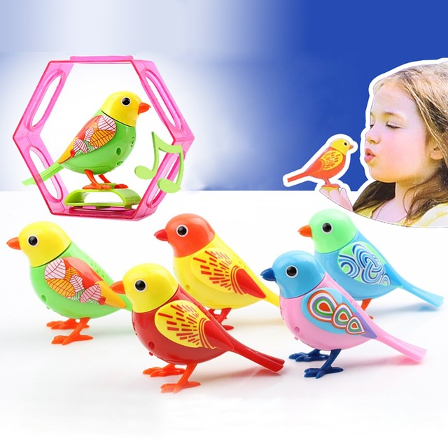 Hot Sale 20 Songs Singing Sound Birds Pets Sing Solo Intelligent Music Toys Digibirds Music Bird For Kids Children Electric Toy