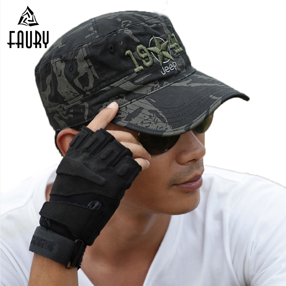 Military Hat Handsome Falcon Base Chapeau Militaire Army Black Camouflage Cap Hats Military Style Men Military Accessories