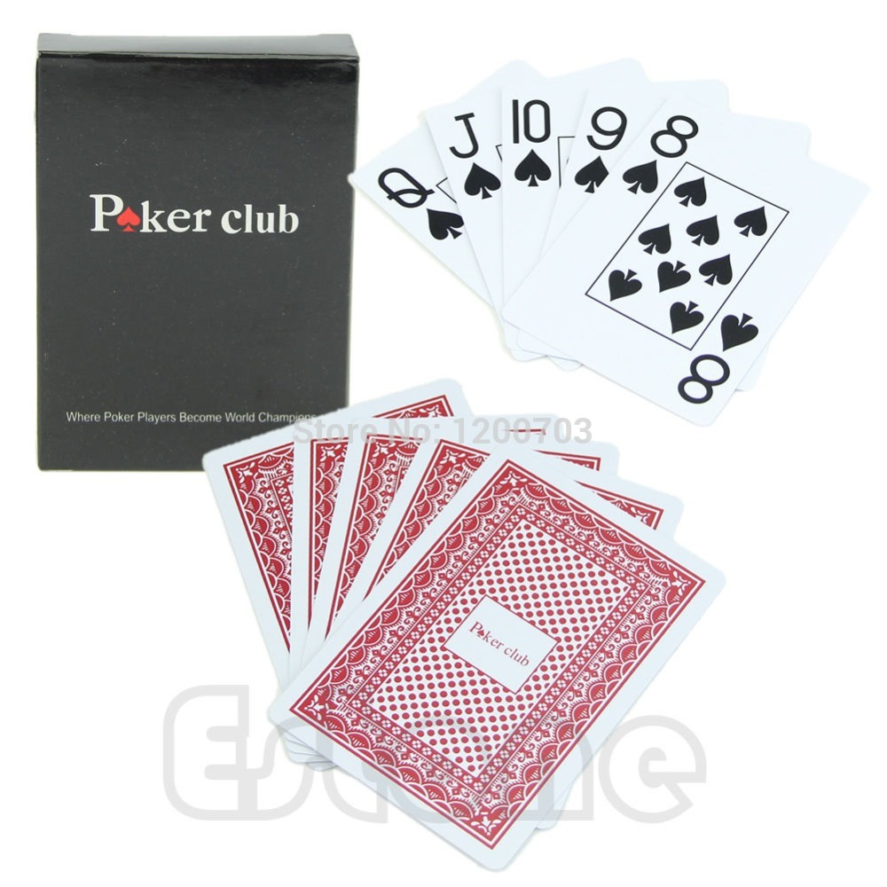 1 Poker Baru Merah 100 Plastik Texas Poker Ukuran Bermain Kartu Playing Cards Size Playing Cardsplaying Card Size Aliexpress