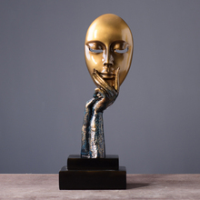 European Creative Personality Thinker Retro Abstract Resin Figurine Ornaments Home Desktop Decor Accessories Craft Gift