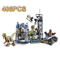 DIY Assemble Dinosaur Jurassic Catching Compatible legoed Technic Legoed Assemble Small particles Educational Toys for kids