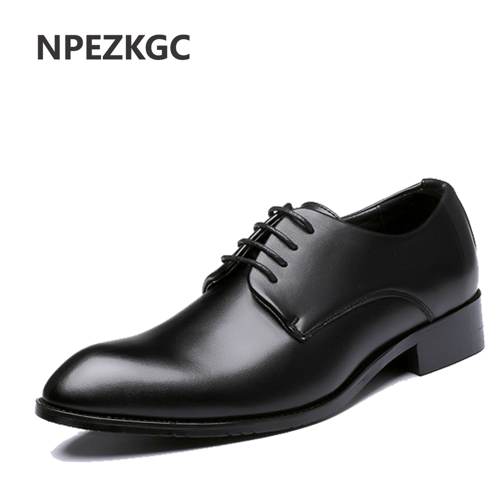 NPEZKGC Hot Sale Men Dress Shoes Soft Pointed Toe Classic Fashion Business Oxford Shoes For Men Loafers Men Leather Shoes npezkgc brand high quality men oxford men leather dress shoes fashion business men shoes men dress pointed shoes wedding shoes