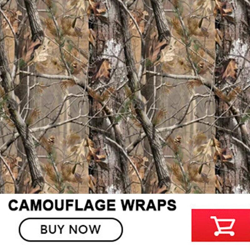 FS008 5/10/15/20/25/30X1.52 mètres Realtree Camouflage vinyle Wrap autocollant voiture style réel arbre moto vélo voiture décalque Film