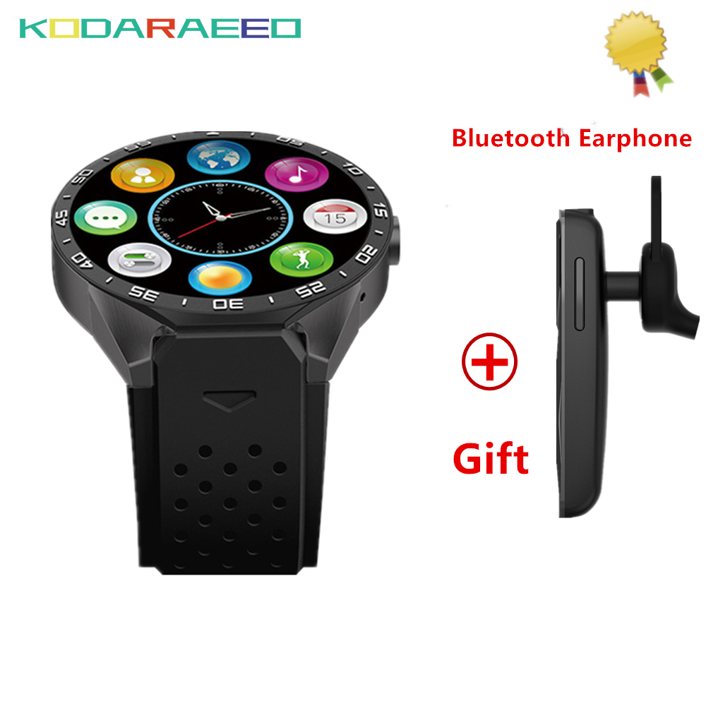 kodaraeeo KW88 Android 5.1 Smart Watch 1.39 400*400 SmartWatch phone GPS 3G wifi SIM card 5.0MP Camera Heart Rate+Free Headset volemer kw88 3g wifi smartwatch cell phone all in one bluetooth smart watch android 5 1 sim card gps camera heart rate monitor