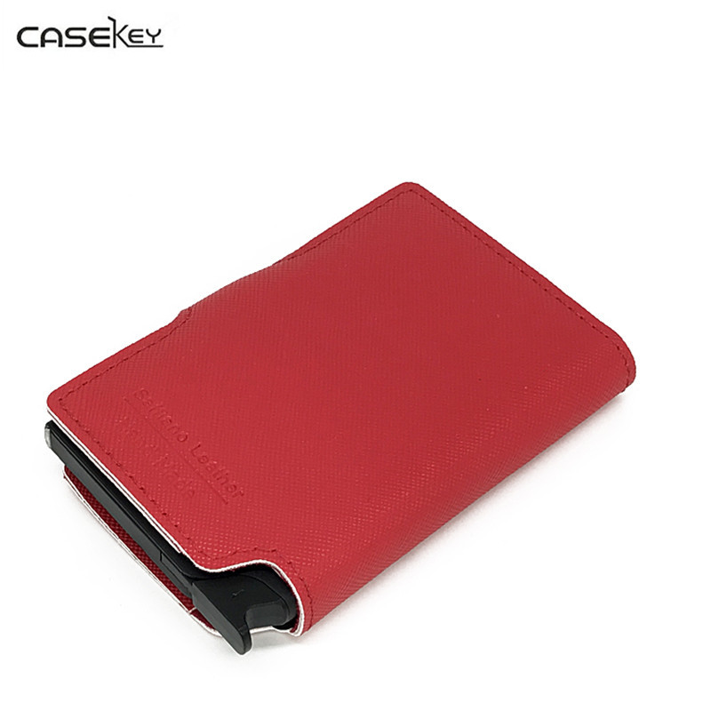 CaseKey RFID Blocking Mens Womens Metal Credit Card Holder Aluminium Automatic Case To Protect Credit Cards Box 2017 New Arrival new porte carte business id credit metal card holder wallets pocket case bank credit card package case metal card box aluminium