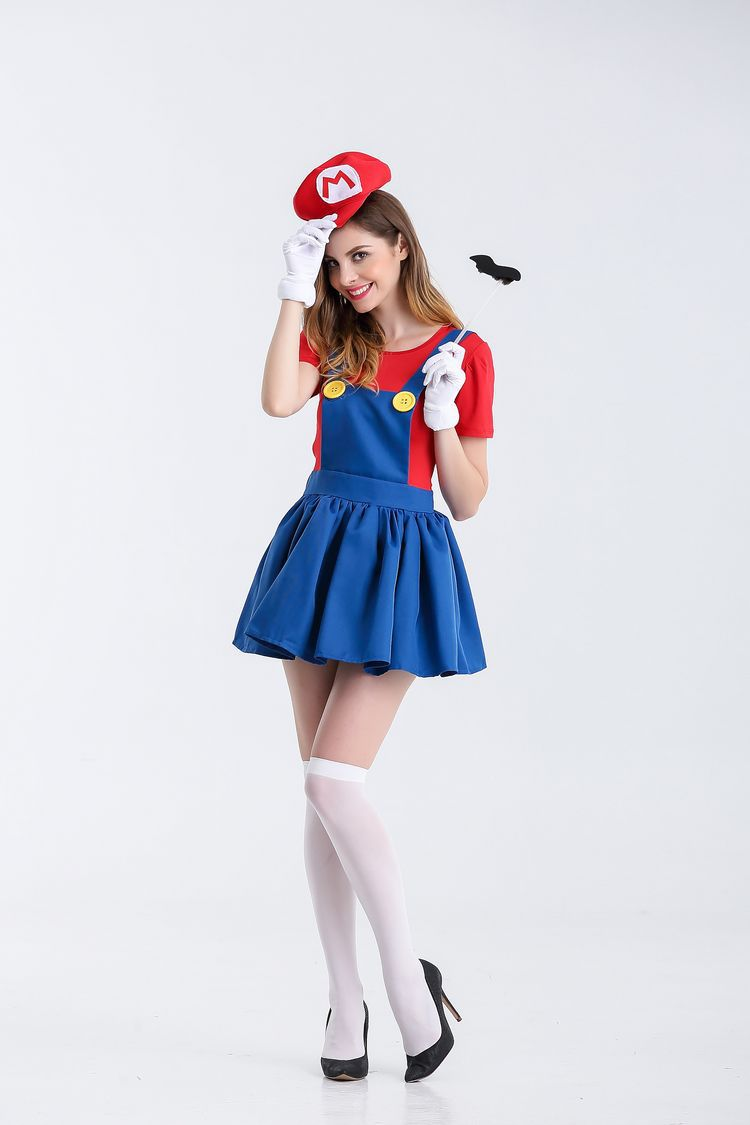 Halloween sexy anime cosplay costumes hot super mariou bros figures lovey skirt set party mario costume for women 2121 on aliexpress com alibaba group