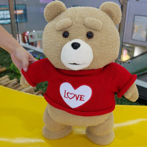 Image 5 - 45cm 9 סגנונות סרט היא טדי דוב בפלאש צעצועי ב חליפת ילד טד רך חיות פרווה בובות מתנת הווה טוב Qulity כלה שמלה