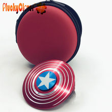 1 Pza Capitán América escudo Spinner Metal mano Spinner Marvel superior Spinner juguetes Beyblade superhéroes metálico Vinger Gyro(China)