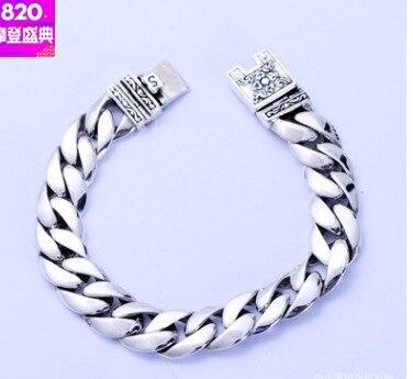 23cm bracelet for men 2018 mens braclets hand chain silver 925 jewelry 13mm bracelets for men bracelet personnalisable mens braclets silver 925 5mm