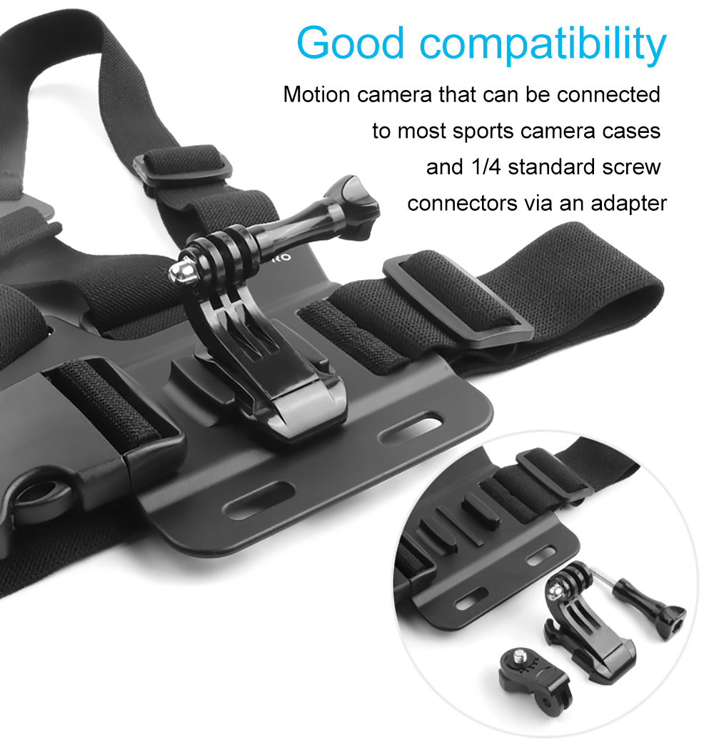 YELIN 1080P Yonis Camera SPORTZeblaze ishot1ZONKO 4K Sport Navitech Adjustable Shoulder Body Strap Harness Mount Holder Compatible with The WiMiUS Q1 4K