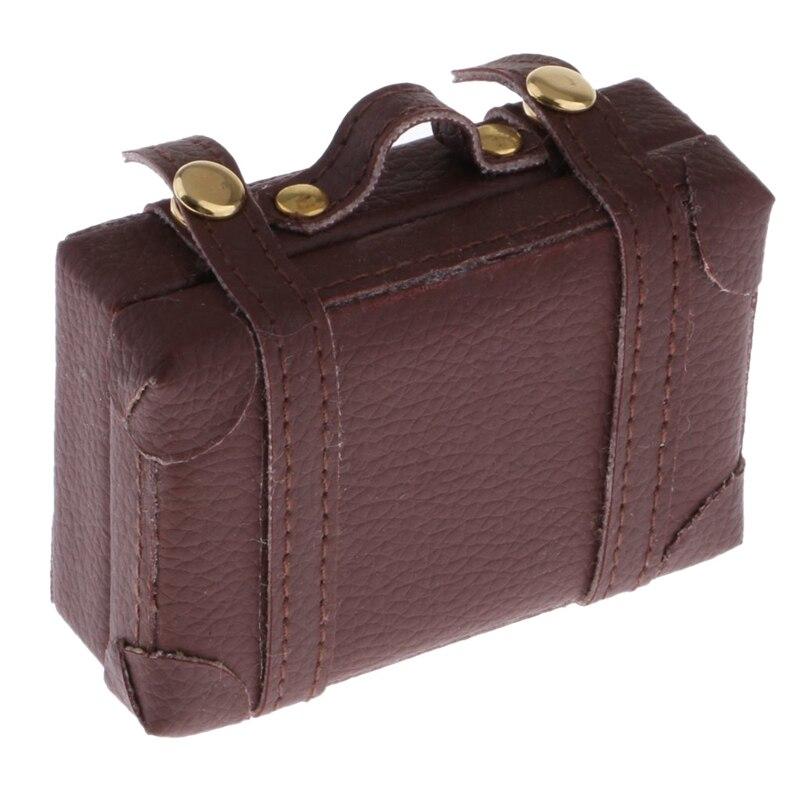 1:6 Doll House Luggage Mini Creative Portable Diy Suitcase Accessories Exquisite Deco